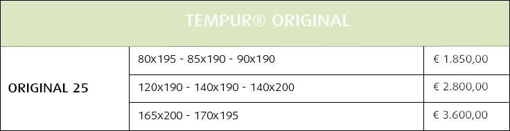 Materassi Tempur Original su misura
